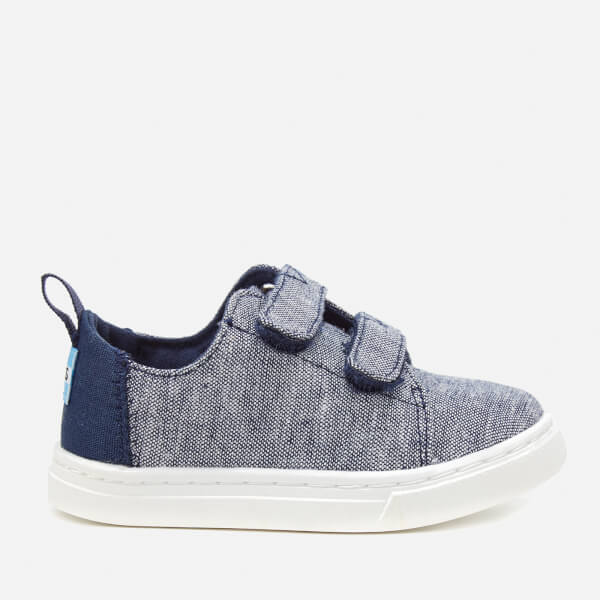 TOMS Toddlers' Lenny Chambray Double Velcro Trainers - Navy