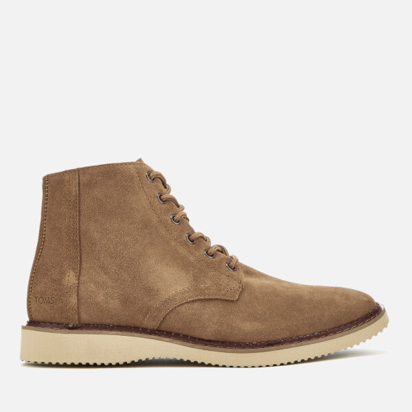 TOMS Men's Porter Suede Lace Up Boots - Toffee