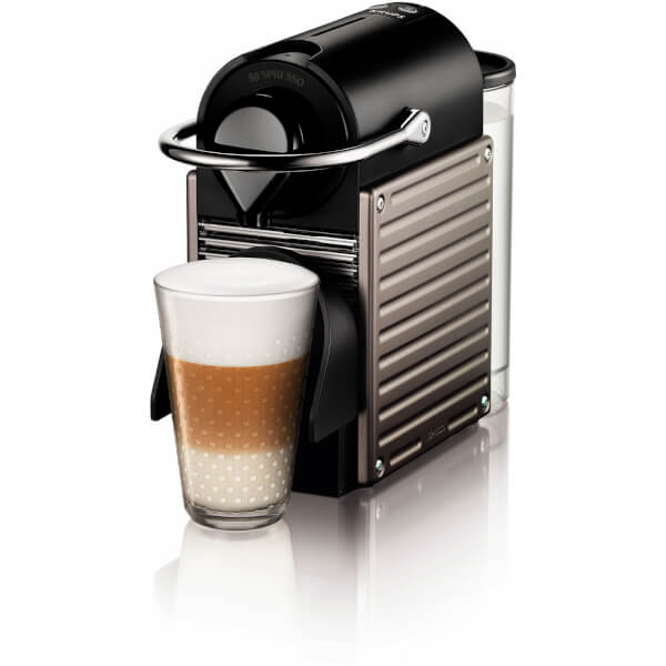 nespresso by krups xn300540 pixie coffee machine titanium iwoot. Black Bedroom Furniture Sets. Home Design Ideas