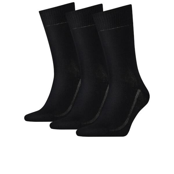 Levi's Men's 3 Pack Crew Socks - Black