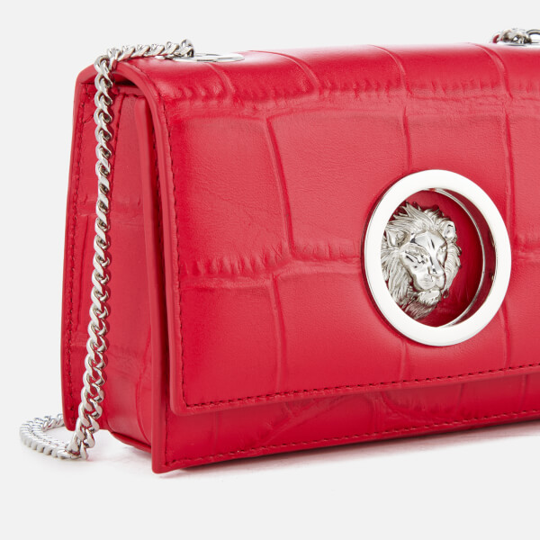 343c14c23956 Versus Versace Women s Lion Croc Small Clutch Bag - Red  Image 4