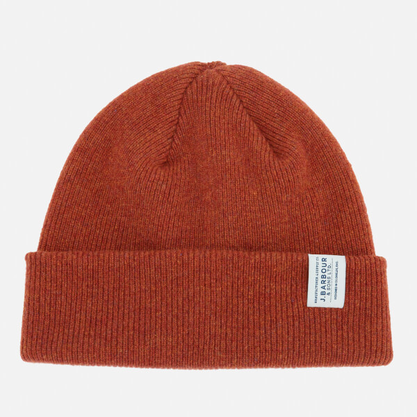 7e2d231eb06 Barbour Men s Lambswool Watch Cap - Clay Red  Image 1