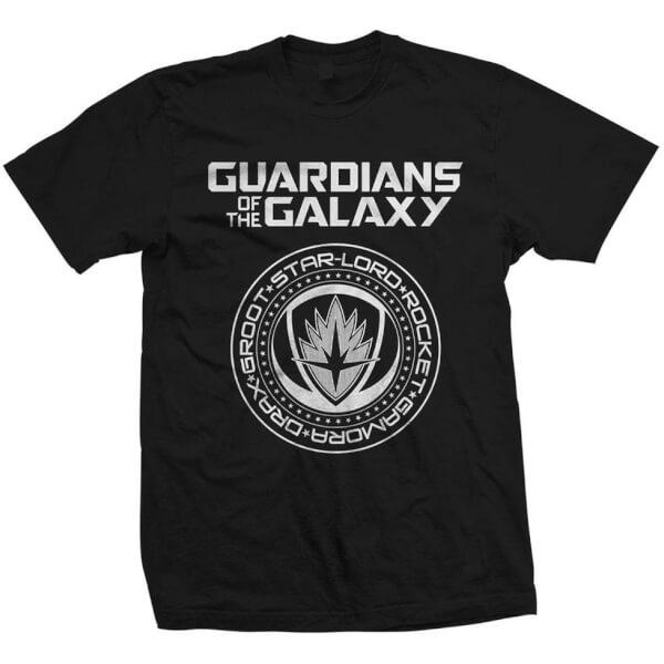 Marvel Men's Guardians of the Galaxy Vol.2 Seal T-Shirt - Black