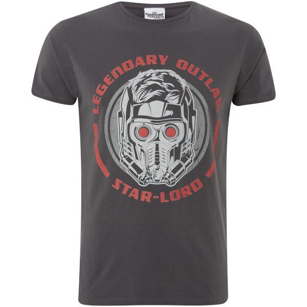 T-Shirt Homme Marvel Les Gardiens de la Galaxie Vol.2 Star Lord - Noir