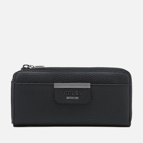 Guess Women's Bobbi Slim Wallet - Pewter Black