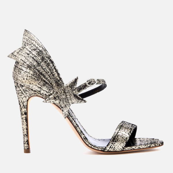 Rupert Sanderson Women's Starfire Heeled Sandals - Platinum Tweed Laminate