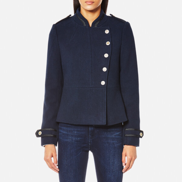 Maison Scotch Women's Bell Boy Inspired Wool Jacket - Navy