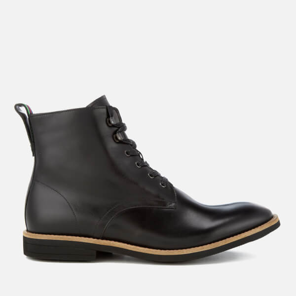 PS Paul Smith Men's Hamilton Leather Lace Up Boots - Black