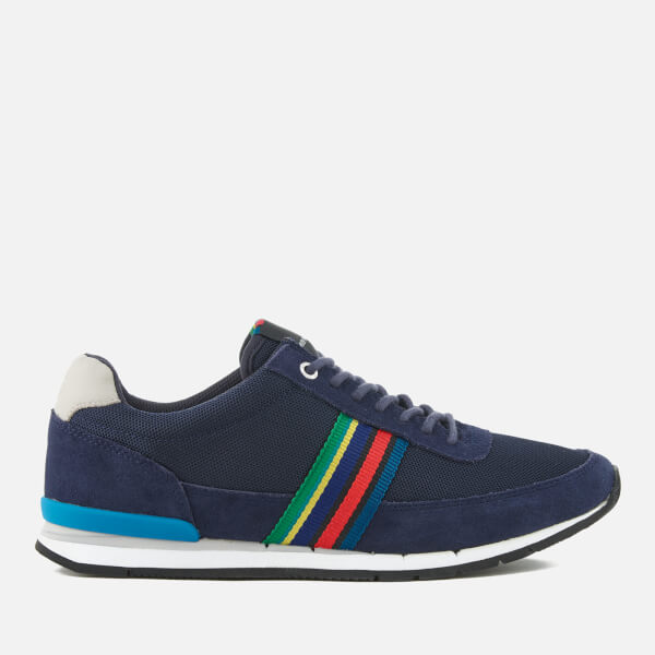 PS by Paul Smith Men's Svenson Mesh/Suede Runner Trainers - Dark Navy