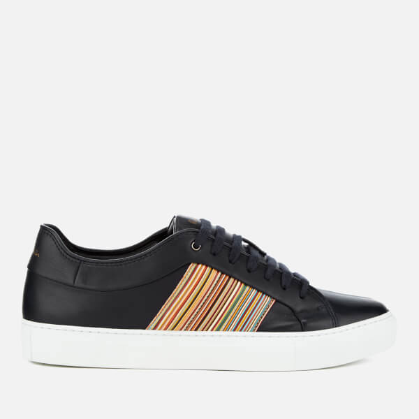 Paul Smith Men's Ivo Leather Cupsole Trainers - Dark Navy/Multi Stripe