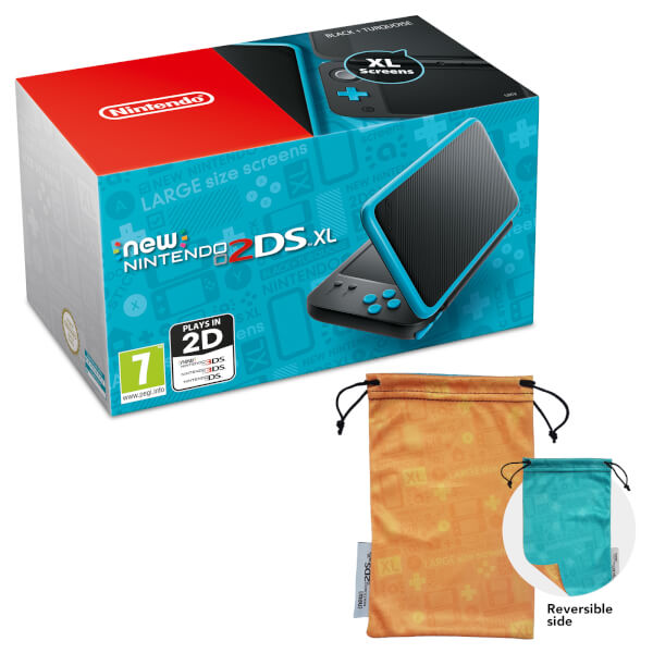 New nintendo 2ds xl black and turquoise nintendo uk store for Housse new 2ds xl