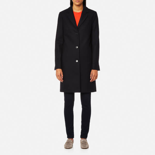 3e638fc0d9 GANT Women s Wool Cashmere Coat - Marine Womens Clothing