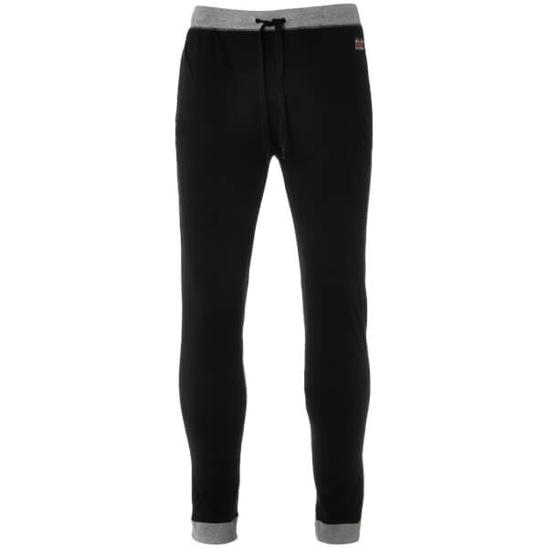 Ben Sherman Men's Hendrix Jersey Cuffed Lounge Pants - Black