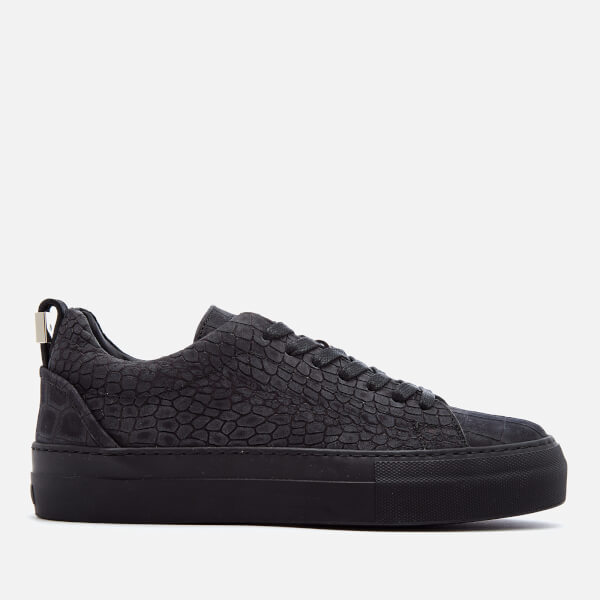 Buscemi Women's Tennis Nubuck Trainers - Black