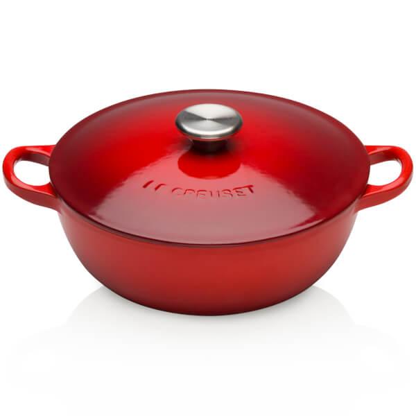 Le Creuset Cast Iron Bouillabaisse Casserole Dish - 22cm - Cerise