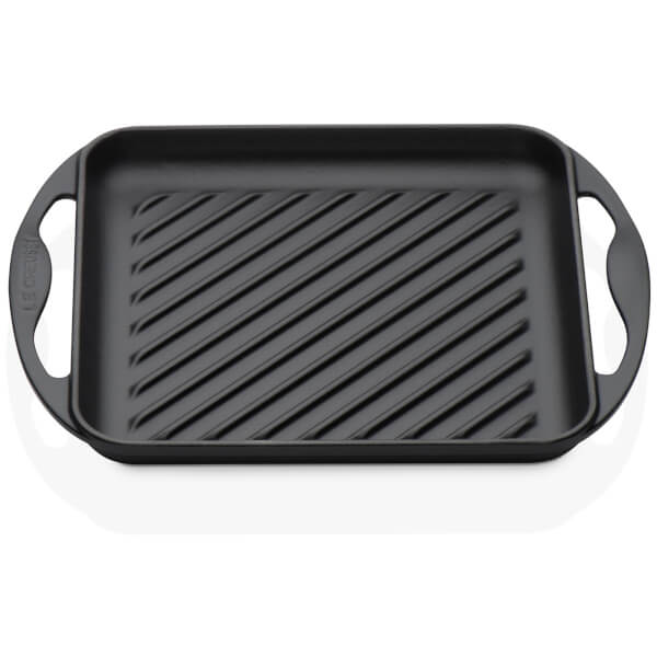 Le Creuset Cast Iron Skinny Square Grill - 24cm - Black