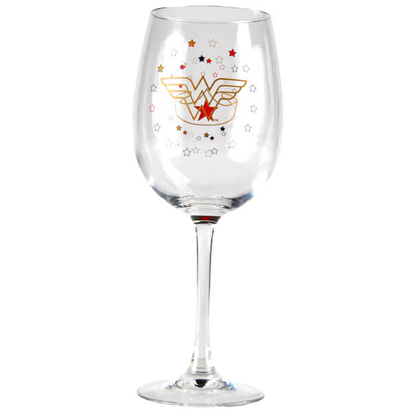 DC Comics Wonderwoman Wine Glass in Gift Box