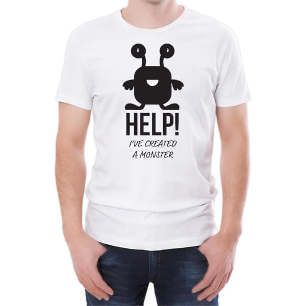 Help I've Created A Monster Men's White T-Shirt