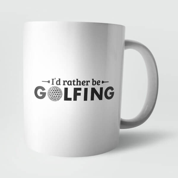 I'd Rather Be Golfing Mug