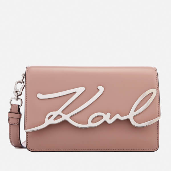 1a6a97e1969a Karl Lagerfeld Women s K Metal Signature Shoulder Bag - Ballet  Image 1