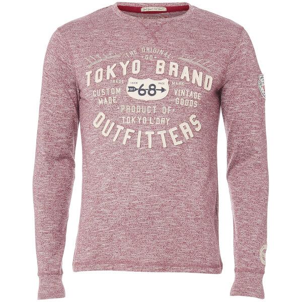 Tokyo Laundry Men's Timperley Jersey Long Sleeve Top - Oxblood
