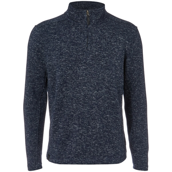 Dissident Men's Canterbury Zip Down Sweatshirt - Navy Fleck