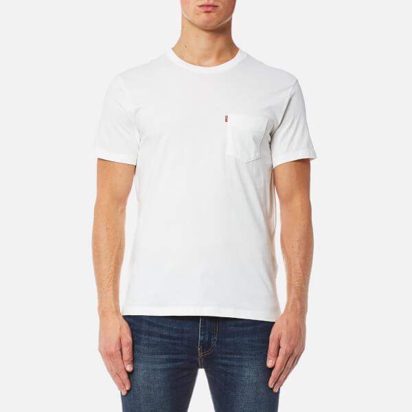 levi's men's short sleeve set-in sunset pocket t-shirt - whitesmoke - s