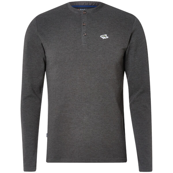 Le Shark Men's Highbury Buttondown Long Sleeve Top - Charcoal Marl