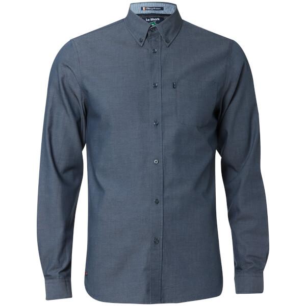 Le Shark Men's Tobruk Oxford Twill Long Sleeve Shirt - Dress Blue