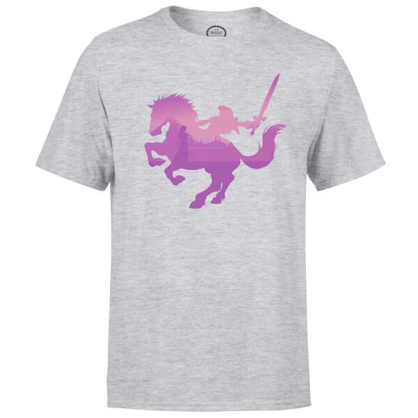 Nintendo Zelda Silhouette Men's Light Grey T-Shirt