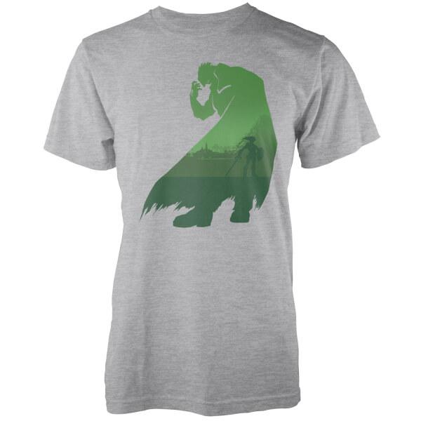 Nintendo Zelda Ganondorf Silhouette Men's Light Grey T-Shirt