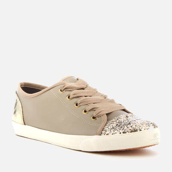 KG by Kurt Geiger Synthetic Lucca Flat Lace Up Trainers in