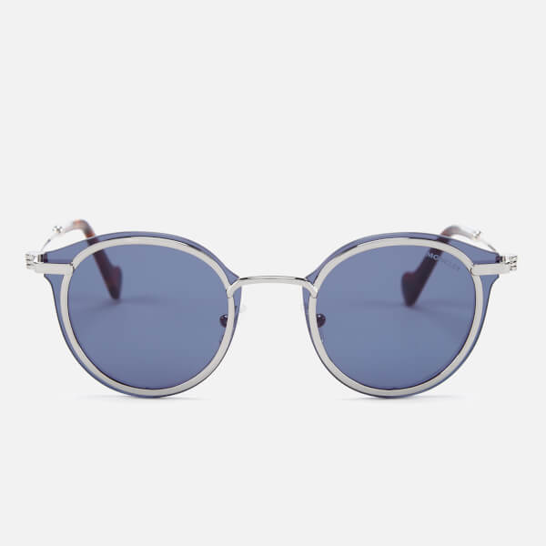 Moncler Men's Oval Sunglasses - Ruthenium/Blue