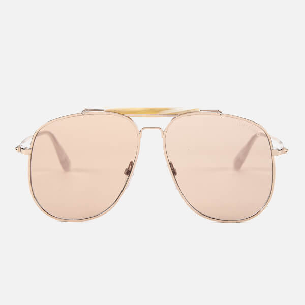 Tom Ford Men's Connor Sunglasses - Shiny Rose Gold/Violet