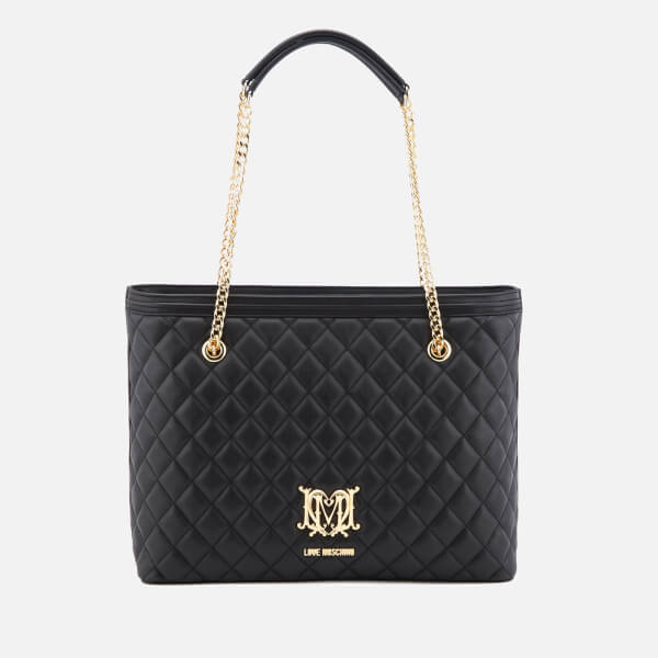 917a8d635556 Love Moschino Women s Quilted Tote Bag - Black Womens Accessories ...