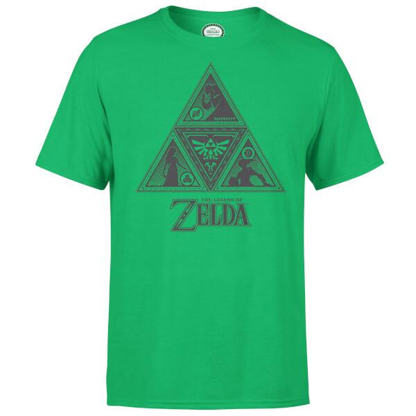 Nintendo Zelda Triforce Men's Green T-Shirt