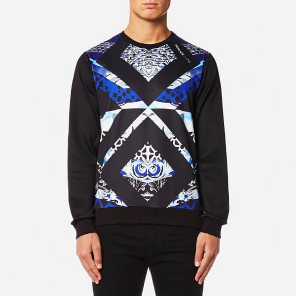 Versace Jeans Men's Printed Sweatshirt - Nero