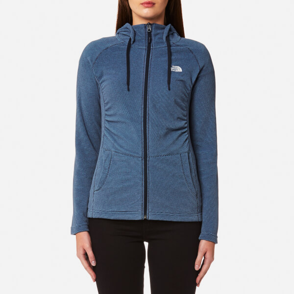The North Face Women's Mezzaluna Full Zip Hoody - Provincial Blue Stripe