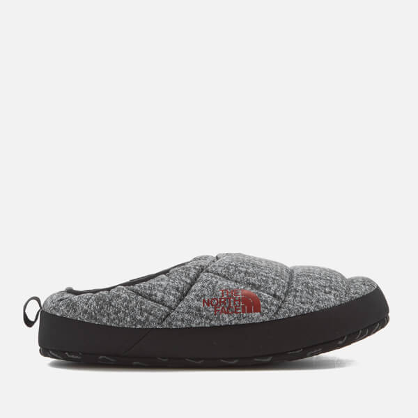 The North Face Menu0027s NSE Tent Mule III Slippers - Phantom Grey Heather Print/Ketchup & The North Face Menu0027s NSE Tent Mule III Slippers - Phantom Grey ...