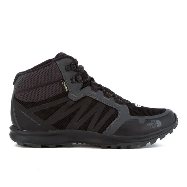The North Face Men's Litewave Fastpack Mid Gore-Tex Trainers - TNF Black/Dark Shadow Grey