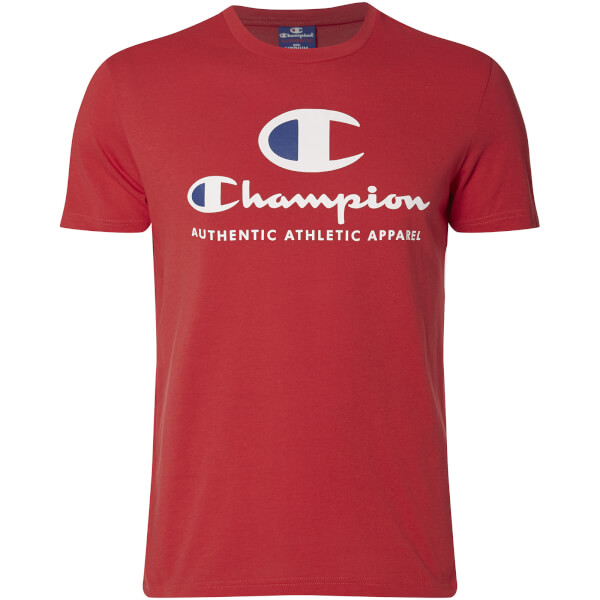 T-Shirt Homme Grand Logo Champion - Rouge