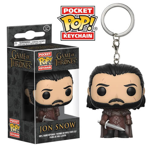 Game of Thrones Jon Snow Pocket Pop! Keychain