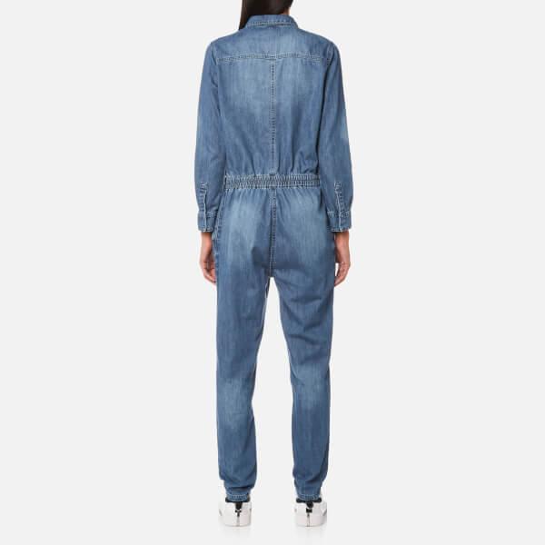 d82aa1ff56c8 Selected Femme Women s Cover Denim Jumpsuit - Dark Blue Womens ...