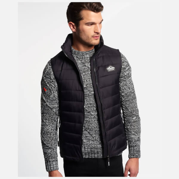 Superdry Men's Fuji Gilet - Black