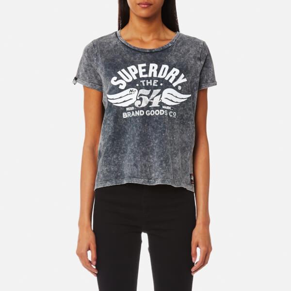 Superdry Women's 54 Brand T-Shirt - Acid Wash