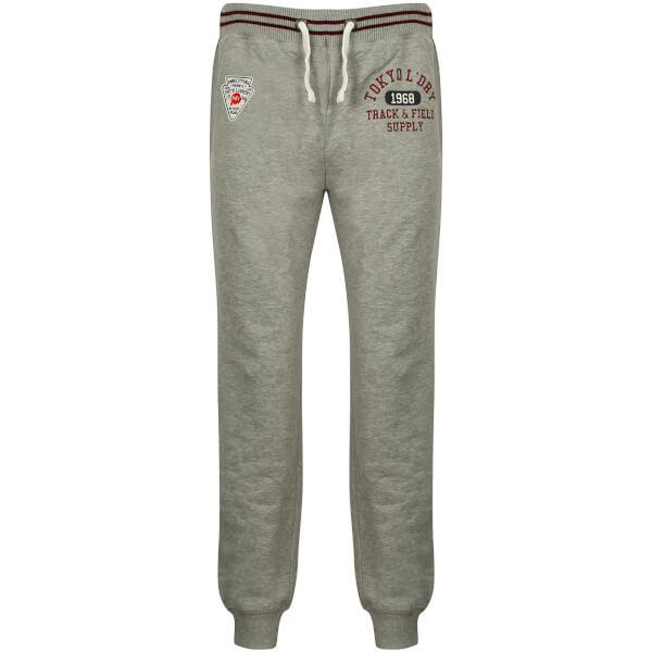 Tokyo Laundry Men's Red Lake Falls Cuffed Sweatpants - Light Grey Marl