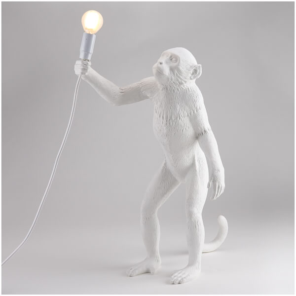 Seletti Standing Monkey Lamp - White