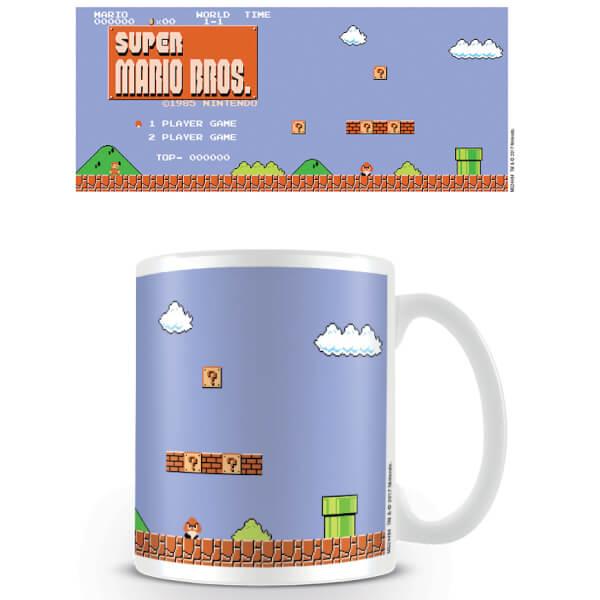 Super Mario Coffee Mug (Retro Title)