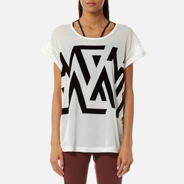 Reebok Women's Mesh Short Sleeved T-Shirt - Chalk