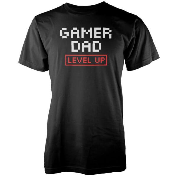 T-Shirt Homme Gamer Dad Level Up - Noir